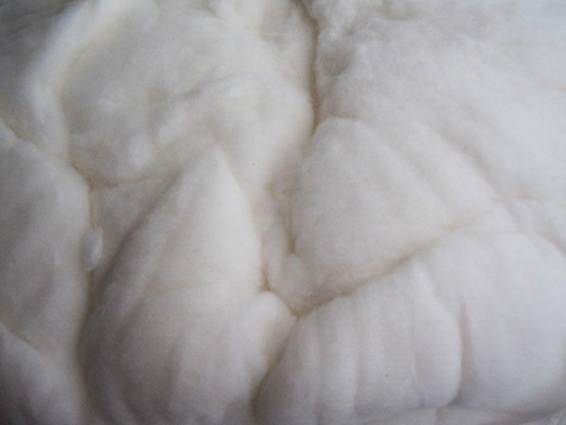 雷竞技app下载苹果千层大型被褥加工部刚弹好出售中的棉花特写